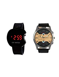 COSMIC MULTI-COLOR ANALOG WATCH WITH FREE APPLE LED WATCH FOR MEN & BOYS
