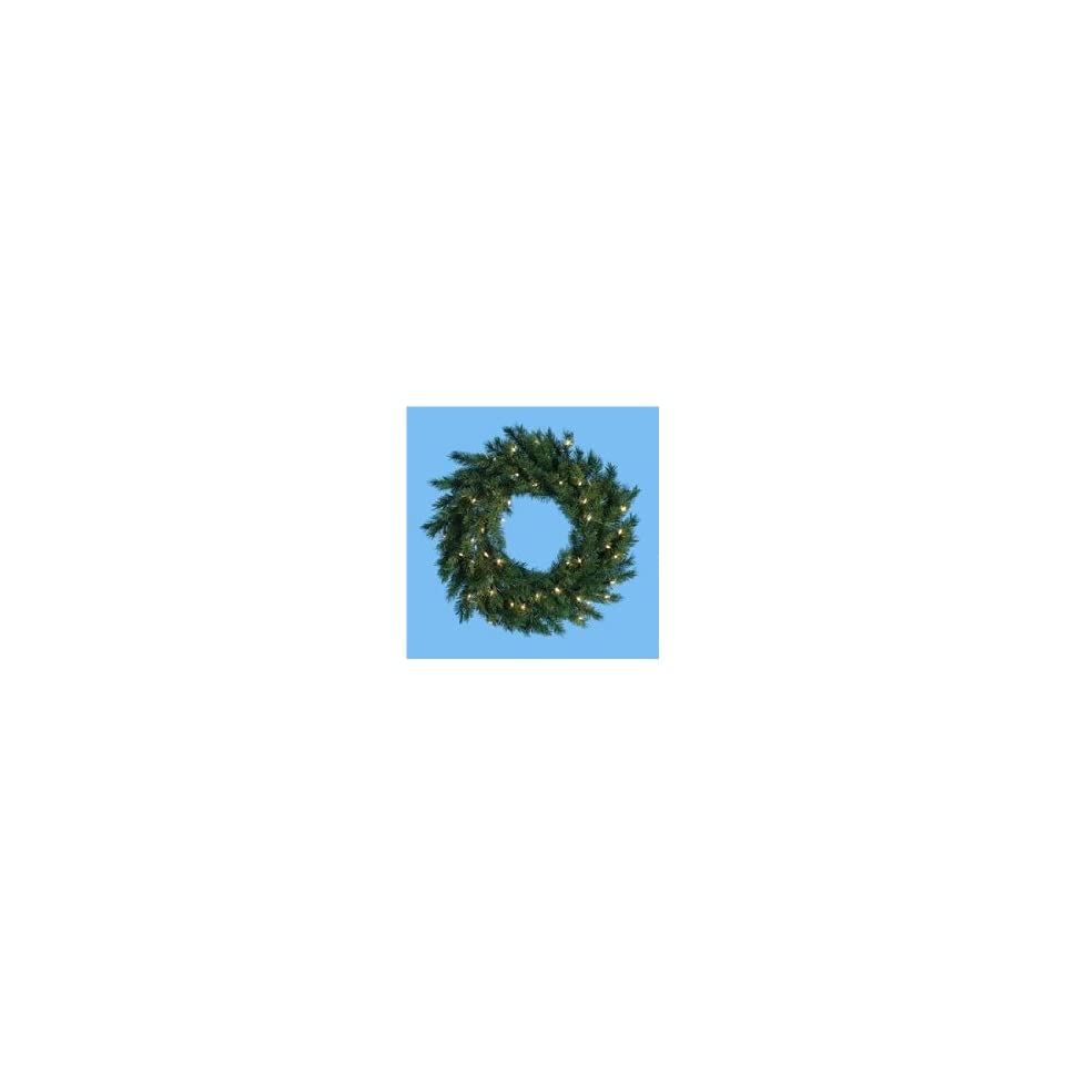 30 Pre Lit Classic Pine Artificial Christmas Wreath   Warm Clear LED Lights