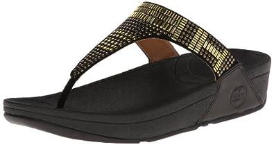 FitFlop Women's Aztec Chada Flip Flop,Black,5 M US