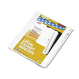 Kleer-Fax Letter-Size Individual Letter Index Dividers, Side Tab, 1/26th Cut, 25 Sheets per Pack, White, Letter B (80002)