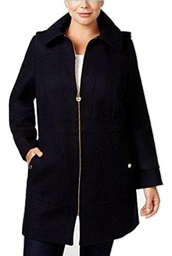 Michael Kors Plus Size Hooded Raincoat, Black, 1X (Rain Jackets Michael Kors compare prices)
