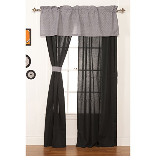 One Grace Place Teyo's Tires Drapes, Black