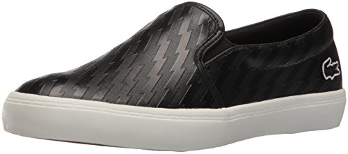 Lacoste Women's Gazon W 416 2 Caw Fashion Sneaker, Black, 10 M US