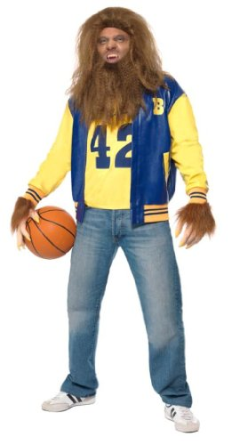 Teen Wolf 80s Movie Michael J. Fox Costume. Jacket, Vest, Gloves, Wig and Beard.