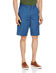 VANS Men's Cotton Shorts (8907222486525_VN000O4VJ4T_32_Poseidon Heather)