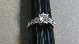R. S. Covenant Rings 4397 Silver CZ/CZ Ring Size 7