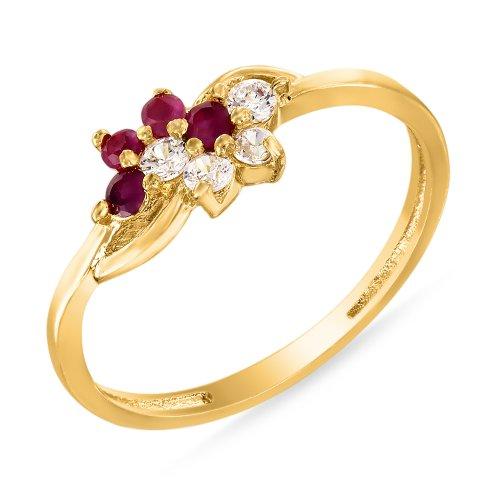 Mahi-Ruby-CZ-24K-Gold-Plated-Fashion-Finger-Ring-for-Women-FR1100314G