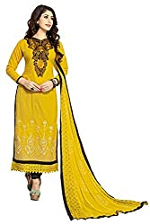 Fashionup Women's Cotton Ethnic Dress Material ( Yellow )