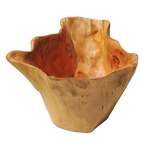 WELLAND Handmade Storage Natural Root Wood Crafts Bowl Deep Bowls