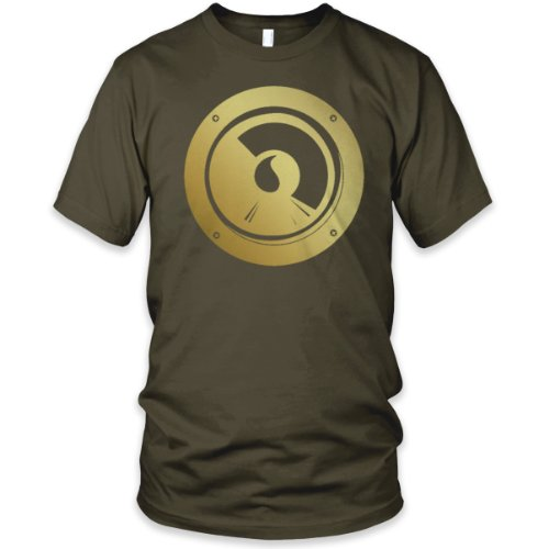 Bass Speaker Fine Jersey T-Shirt (Metallic Gold), Army, L