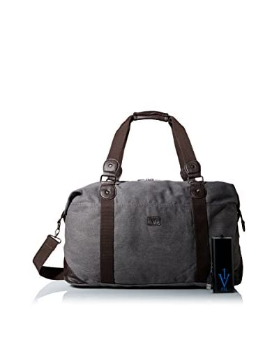 1 Voice Men's Complete Weekender FYL Bag with Built-In Battery Charger, Grey