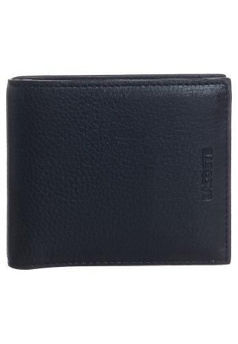 Lacoste Nero Pass Case tasca portamonete in vera pelle nuovo in scatola
