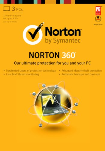 Norton 360 2013 - 1 User / 3 PC [Old Version] [Download]