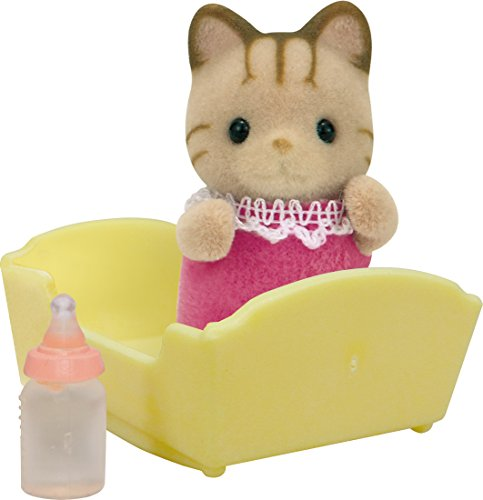 Sylvanian Families - Striped Cat Baby - Figure - Epoch - 1