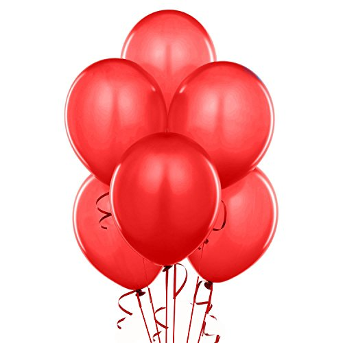 Qualatex 43790 100-Count Latex Balloon, 11-Inch, Red