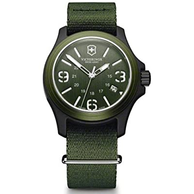 Victorinox Unisex 241514 Original Resin Watch With Green Nylon Band