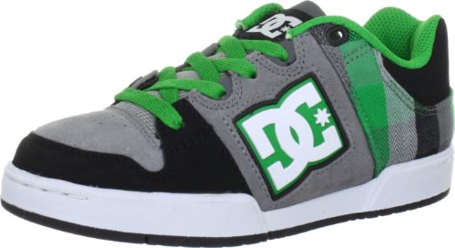 DC Kids Shoes Turbo 2 black/green/plaid, schuhgröße allgemein (eur 16 bis 54.5):39