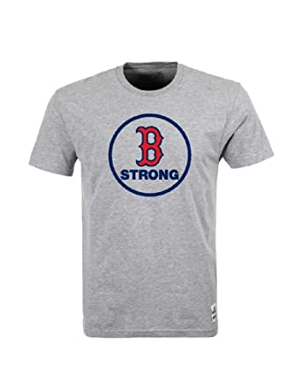Boston Strong Shirt USA Shirt Pride Tee Boston Red Sox (Large, Grey)
