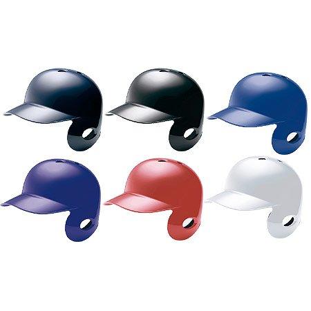 ミズノ 軟式 野球用 片耳 打者用 ヘルメット ネイビー(14) 右打者用(2HA307)・L(57~59cm)