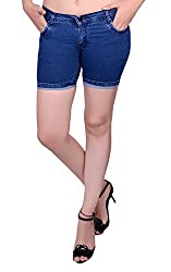 Nifty Women's Denim Shorts (0001, Blue, 28)