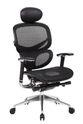 Boss B6888-BK-HR Multi-Function Mesh Chair with Head Rest