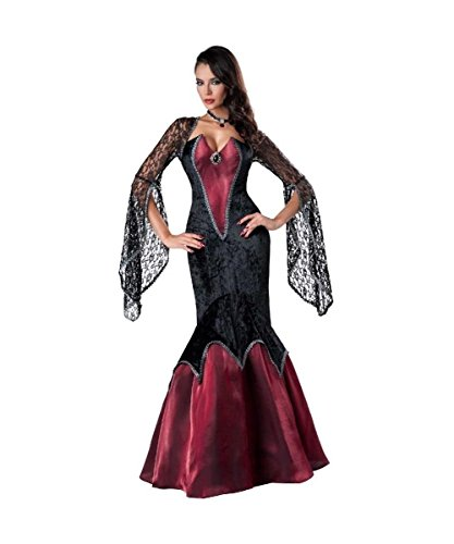 Piercing Beauty Gothic Vampire Seductress Womens Halloween Costume