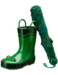 Western Chief Frog Boot & Umbrella Set (Toddler/Little Kid)