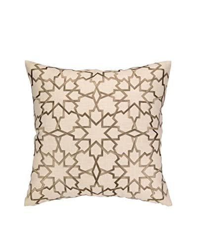 D.L. Rhein Moroccan Star Embroidered Pillow, Grey