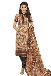 Gugaliya Women's 100 % Cotton UNSTICHED Salwar, Kameez & Dupatta Suit (SJ- 3114)