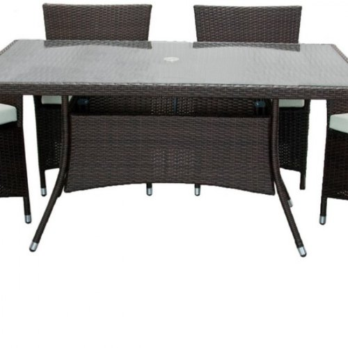 Arizona outdoor Gartenmöbel aus rattan, 6 Stühle Esszimmerset, Tisch rechteckig kaufen