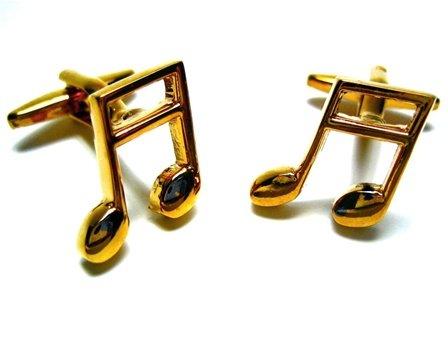 Gold Music Note Cufflink