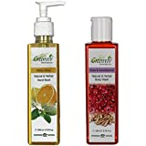Greenviv Natural Combo Of Rose & SandalWood Body Wash (200 Ml) With Minty Citrus Hand Wash (200 Ml)