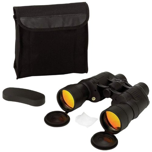 New & Improved Magnacraft 10X50 Binoculars With Ruby Red Coated Lenses For Glare Reduction,Spb10504C.