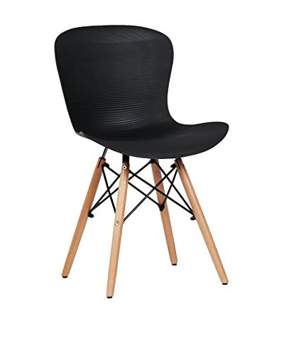 LO+DEMODA Set Silla 2 Uds. Tower Curve Negro