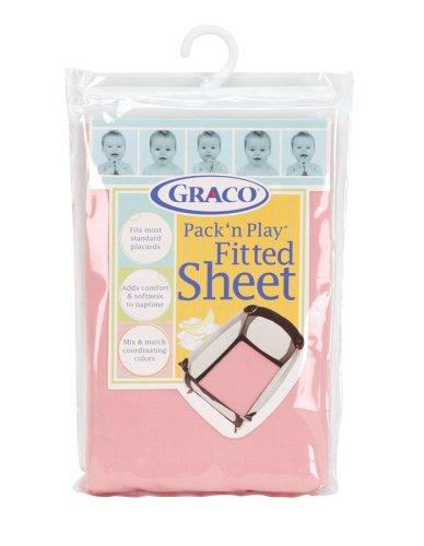 Graco Pack 'n Play Sheet, Pink
