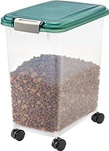 IRIS Airtight Pet Food Storage Starter Kit, Green from IRIS USA
