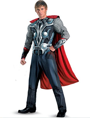 Mocoz Avengers Movie Thor Avengers Classic Muscle Adult Costume