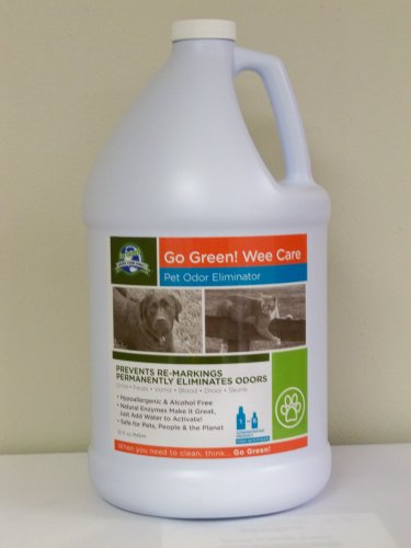 GO GREEN! WEE CARE PET ODOR ELIMINATOR- Concentrate Kit-1 gallon & 2 empty with 1 oz Pump dispenser