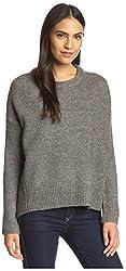 SEN Women's Cropped Sweater, Grey, 1/XS US