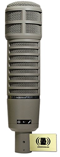 Electro Voice Re20 Dynamic Cardioid Broadcast Microphone Bundle With Polishing Cloth