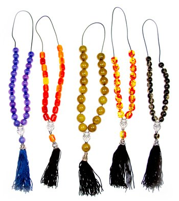 Party Pack - 5 Piece Assorted Color Worry Beads with Tassels