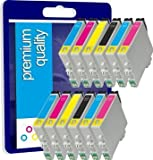12 New Premium Quality High Capacity 100% Compatible ink cartridges Multipack for Epson Stylus 24 XL 24XL T2438 T2428 T24xl T24 Expression Photo XP-750 XP-850 Compatible with T2431 T2432 T2433 T2434 T2435 T2436 T2421 T2422 T2422 T2424 T2425 T2426 (2noir,