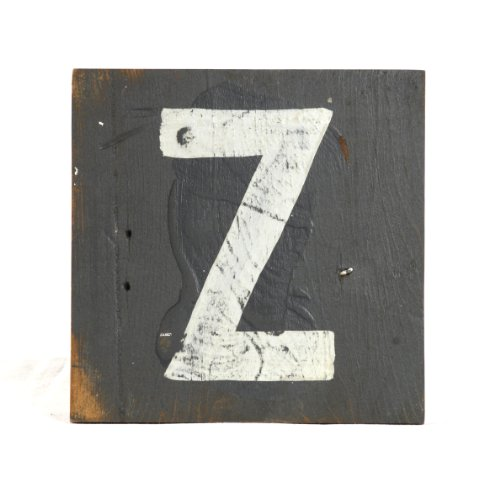 ZENTIQUE Wooden Letter, Small, Monogrammed Z