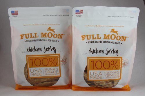 Full Moon Natural Dog Treats Chicken Jerky, 12.5oz. (Pack of 2) (Full Moon Chicken Jerky For Dogs compare prices)