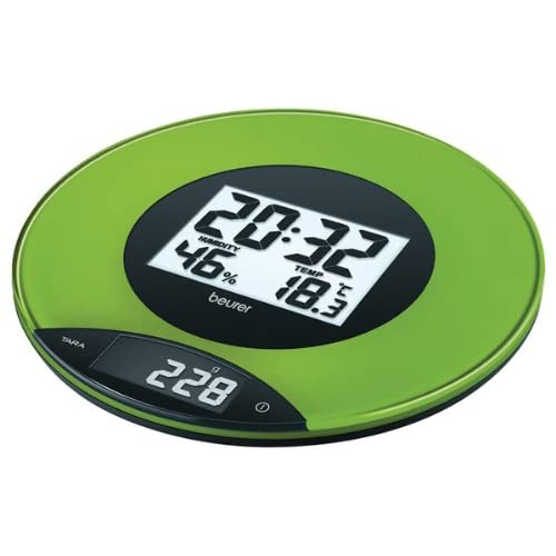 Beurer KS49 Electronic Kitchen Scale with Clock