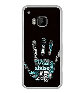 ifasho Designer Phone Back Case Cover HTC One M9 :: HTC One M9S :: HTC M9 ( Blue Dot Brown Rose Colorful Pattern Design )