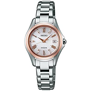 SEIKO EXCELINE Ladies Watch Dolce & Exceline 35 Anniversary Limited model 280 solar radio fix sapphire glass 10 ATM water resistant SWCW102