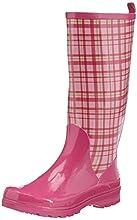 Playshoes Trendiger Damen Gummistiefel Karo 190107, Damen Gummistiefel, Pink (rose 14), EU 39