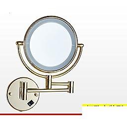 Folding IlluminatedLEDMirror/Bathroom mirror telescopic Beauty/Bathroom wall-sided magnifying mirror-B
