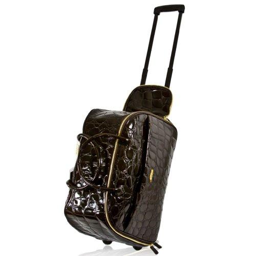 Terrida Italian Designer Pasha Brown Croc Leather